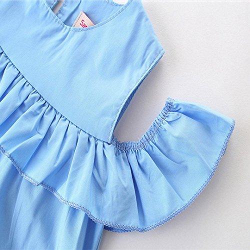 Color 5t Noche Ropa as o 18m puro Cuello moda Vestido Elegante Tama Adeshop mangas ni Ni Fiestas Azul a Princesa Sin os de Ni Casual a Volar de redondo elegante wvxqxfaR