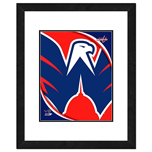 NHL Washington Capitals Team Logo Double Matted & Framed Photo, 18