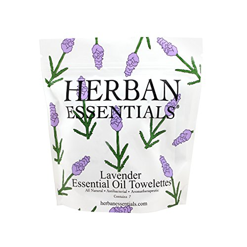 Herban Essentials Mini Towelettes Lavender