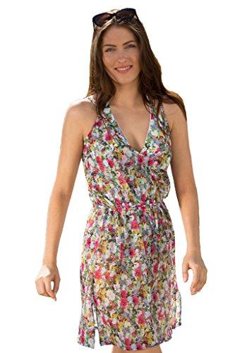 Para Moi diseño de flores de Chelsea e instrucciones para hacer vestidos para mujer 7608