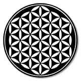 Flower of Life Black Sacred Geometry Vinyl Sticker - Car Window Bumper Laptop - SELECT SIZE