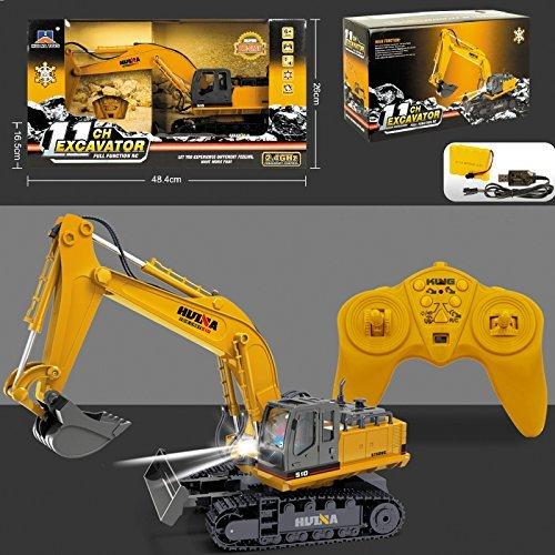 Neu Große Radio Ferngesteuert Bagger Rc Lkw Kinder 2,4 GHZ Jcb Stil Konstruktion Bagger 11ch Spielzeug Weihnachtsgeschenk