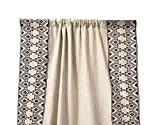 Amore Beaute Moroccan Embroidery Linen Curtains, Custom Curtain Panels