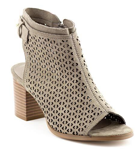 Toe Ankle Bootie - CALICO KIKI AVERY-CK01 Peep Toe Ankle Booties Zip Fashion (8 US Stone SU)