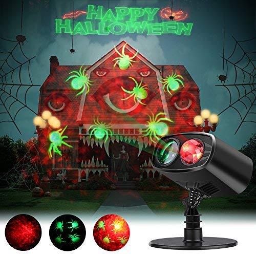 Luces de Proyección Navidad Proyector de la Navidad LED Iluminación de Paisaje IP65 Impermeable Lámpara Luz Efecto Movimiento para el día de Acción de Gracias, el Cumpleaños y la Decoración del Jardí [Clase de eficiencia energética A+] EECOO