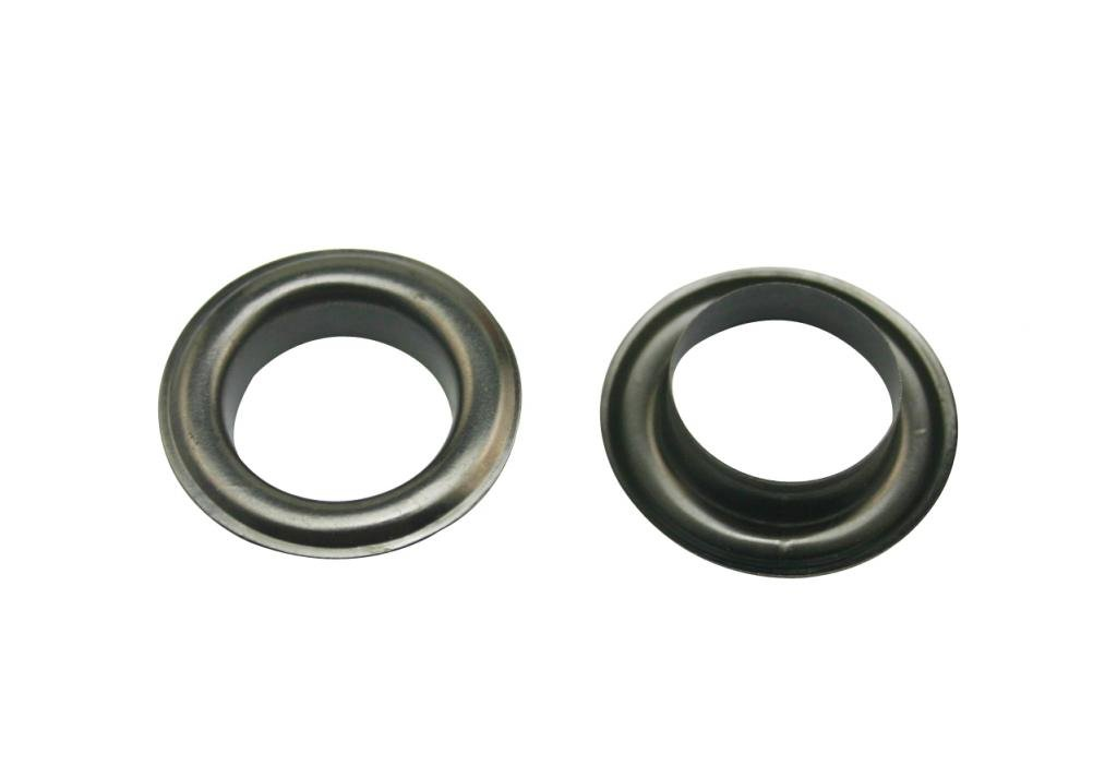 Generic Metal Gun Black Eyelets with Washer 0.51 Inside Center Hole Dia Shoes Clothes Crafts Pack of 50 Sets Tianbang