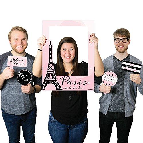 Paris, Ooh La La - Paris Themed Party Photo Booth Picture Frame & Props - Printed on Sturdy Plastic Material