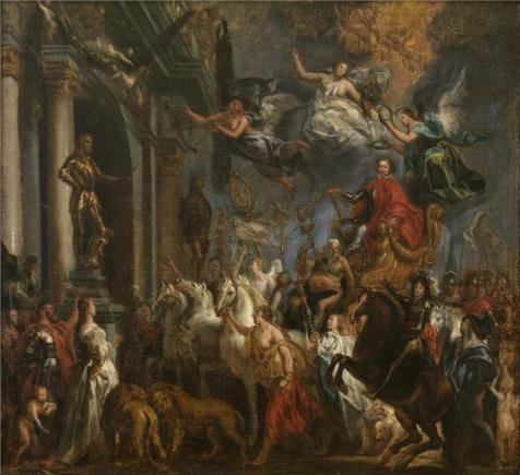 'Jacob Jordaens I - The Triumph Of Frederik Hendrik,1651' Oil Painting, 18x20 Inch / 46x50 Cm ,printed On High Quality Polyster Canvas ,this Best Price Art Decorative Prints On Canvas Is Perfectly Suitalbe For Kitchen Decor And Home Decor And Gifts