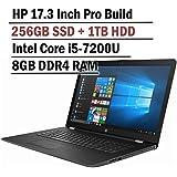 Hp Pavilion 17.3 Inch HD+ Business Laptop (Intel Core i5-7200u, 8GB DDR4 RAM, 256G SSD + 1TB HDD, Bluetooth, HDMI, NO DVD Driver, Windows 10)