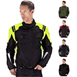 Viking Cycle Ironborn Motorcycle Textile Jacket for Men (Green, XX-Large)
