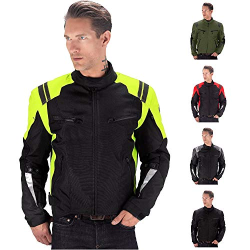 (Viking Cycle Ironborn Motorcycle Textile Jacket for Men (Green,)