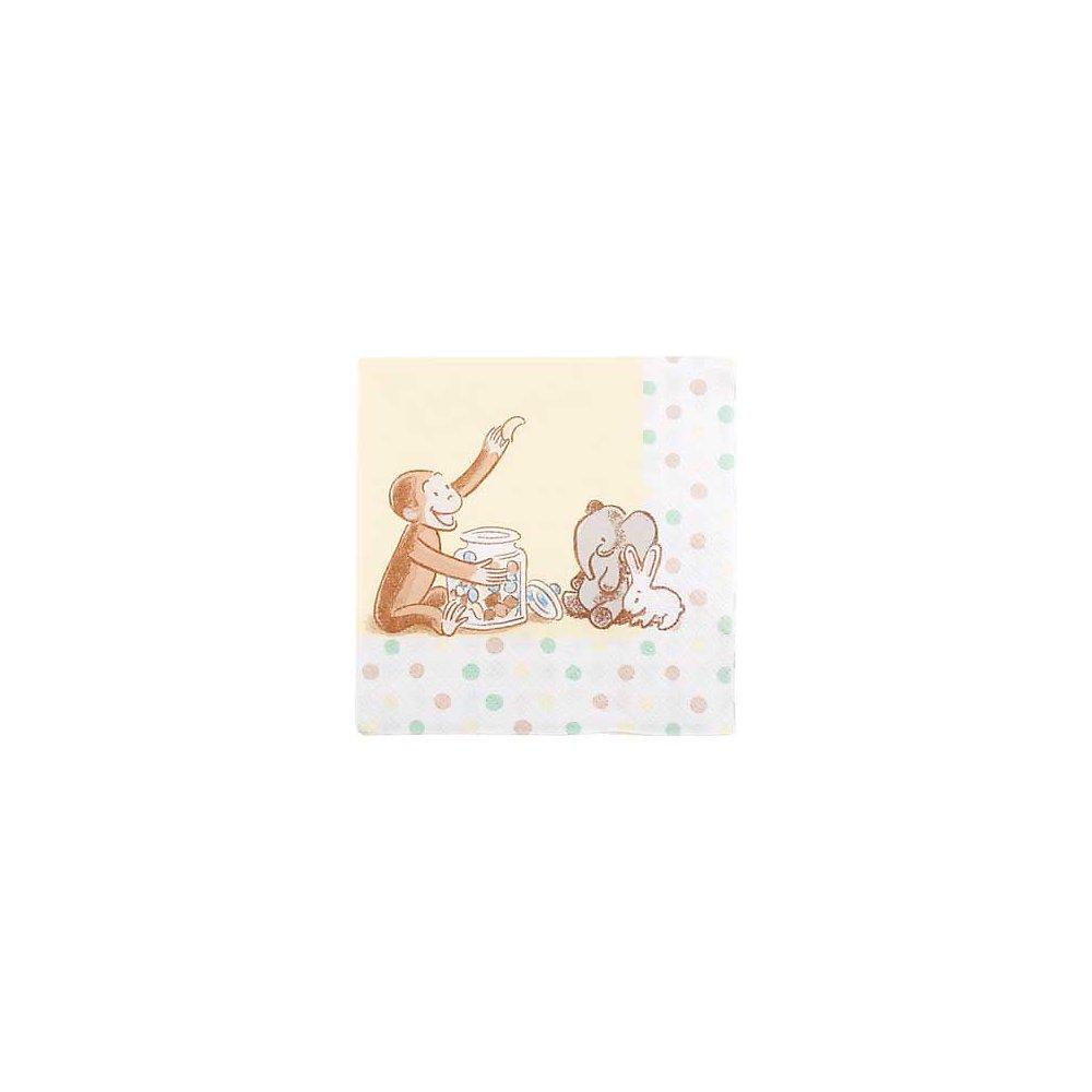1st Cute Curious George 10'' Beverage Napkin - 16/Pkg.