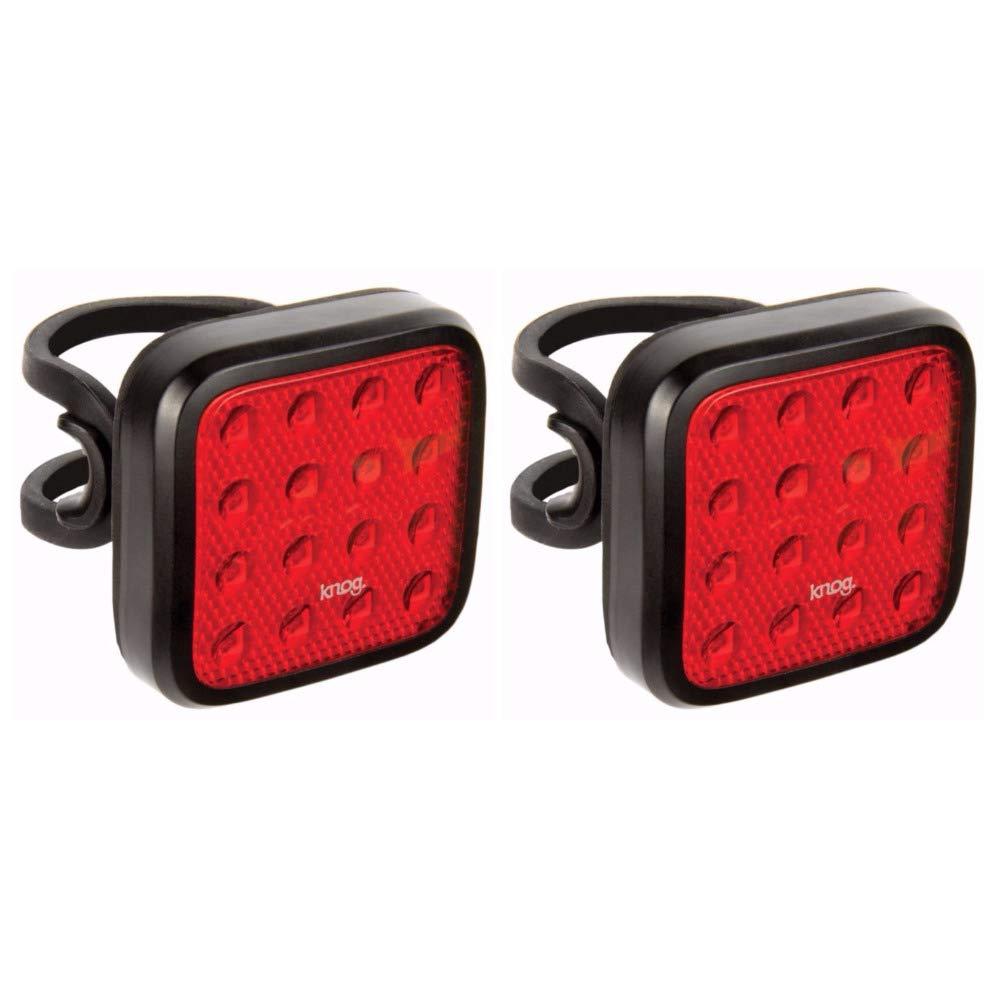 KNOG Blinder Mob Kid Grid Bike Light 2-Pack: USB Rechargeable, Waterproof, Bright Rear Bicycle LEDs by KNOG