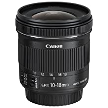Canon EF-S 10-18mm f/4.5-5.6 IS STM Lens (9519B002) - Black