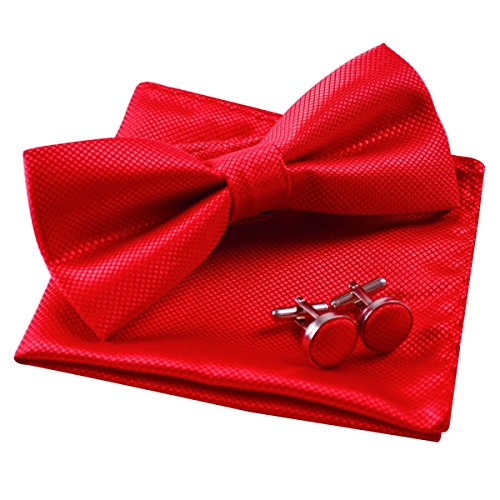 Alizeal Mens Party Bow Tie, Handkerchief and Cufflinks Set - http://coolthings.us