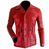 Fight Club Red Coat Leather Jacket