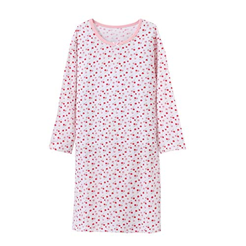 Floral Nightgowns Girls Winter Nightdress Long Sleeve Nightie 11-12 Years