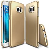 Galaxy S7 Edge Case, Ringke [SLIM] Snug-Fit Slender [Tailored Cutouts] Lightweight & Thin Side to Side Edge Coverage Scratch Resistant PC Hard Skin for Samsung Galaxy S 7 Edge 2016 - Royal Gold