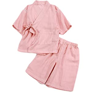 PAUBOLI Baby Strampler Kimono Bio-Baumwolle japanischer Schlafanzug
