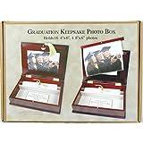 Cherry Oak Jordan Mark Graduation Keepsake Photo Box