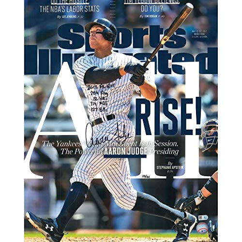 Aaron Judge New York Yankees FAN Autographed Signed 16x20 All Rise Sports Illustrated Cover Photograph With Multiple Inscriptions - Limited Edition Of 24 - Certified Signature