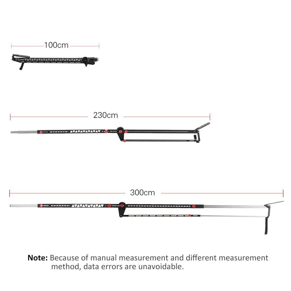 VILTROX YB-K275 DSLR Camera Jib Crane 3m Video Camera Supports Stabilizers Telescoping Portable Travel Jib Crane Arm, with carring bag by VILTROX (Image #4)
