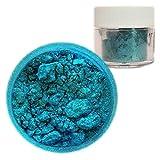 Bakell Teal Blue Edible Luster Fine Grain Pearlized Sparkle Food Grade Lustre Dust 4g