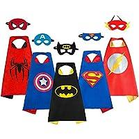 Smart Nice Costumi da Supereroi per Bambini-5 Mantelli e 5 Maschere- Regali di Compleanno - Costumi Carnevale Mantelli e Maschere Giocattoli per Bambini e Bambine (5 Sets -Taglia Unica)