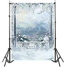 Photo Background Backdrop Prop Window Snow Landscape Photography Studio Backdrop Background 3x5FT