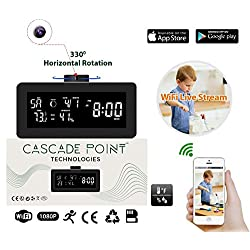 BRAND NEW! 1080P HD Wifi Hidden Security Spy Camera Weather Station - Wireless Video Remote Viewing - Nanny Camera is Motion Detection Activated - Keep Your Loved Ones Safe