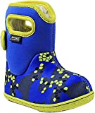 Bogs Baby Axel Snow Boot, Blue/Multi, 6 M US Toddler