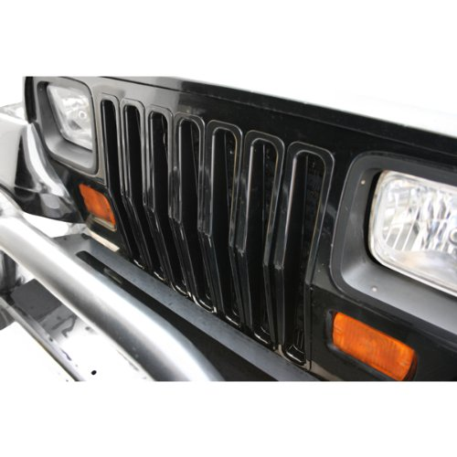 Rugged Ridge Black Jeep Wrangler YJ Grille Inserts 11306.04