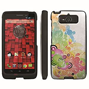 [ArmorXtreme] Designer Image Shell Cover Hard Case (Wave Circle Rainbow) for Motorola Droid Mini XT1030