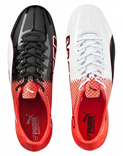 Puma Evospeed 1.5 Tricks AG, Scarpe da Calcio Uomo Schwarz (puma black-puma White-Red blast 03)