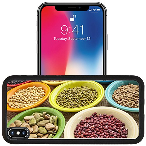 Lentil Floral - Luxlady Apple iPhone x iPhone 10 Aluminum Backplate Bumper Snap Case IMAGE ID 27510427 variety of legumes fava bean mung soy green lentils adzuki black pinto chickpea in colorful ceramic bowls on ca