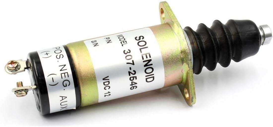 Engine Stop Shutdown Solenoid Valve for WOODWARD 307-2546-12V 1504-12A6U1B1S2 US