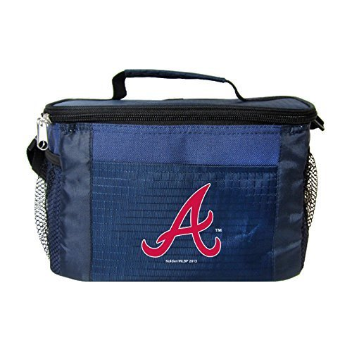 New MLB Baseball 2014 Team Color Logo 6 Pack Lunch Bag Cooler - Pick Team (Atlanta Braves) -