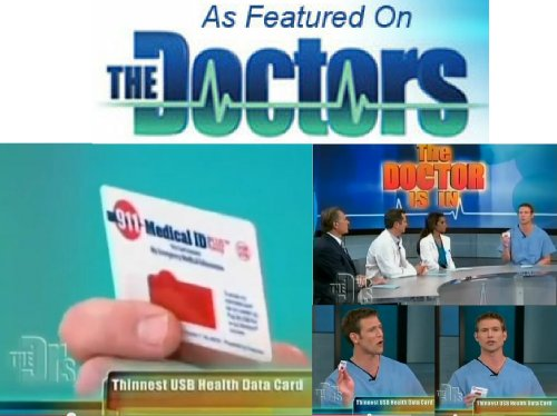 Medical ID as seen on THE DOCTORS - 911 Alert, Emergency Medical Information USB Card - The Size of a Credit ()