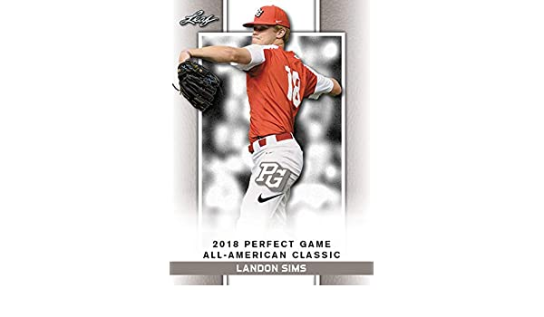 10 ct lot 2018 Landon Sims Leaf Perfect Game Nike AA Classic ...
