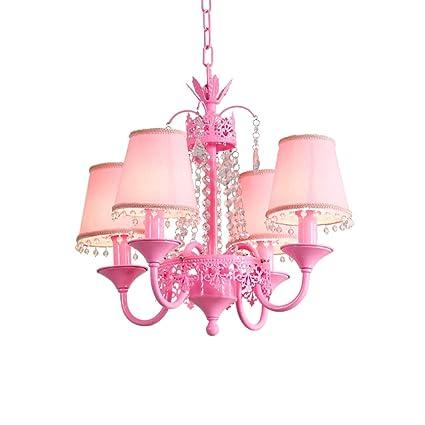 HU HAO UK Lámpara de Techo- Luces Colgantes de Cristal, niña ...