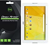 [3-Pack] Dmax Armor Acer Iconia One 10 B3-A20 Screen Protector, Anti-Bubble High Definition Clear Shield - Lifetime Replacements Warranty- Retail Packaging