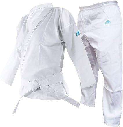 Karate//Taekwondo White//Black//Red Gi Cotton//Poly 8-OZ Adult//Kids with White Belt.