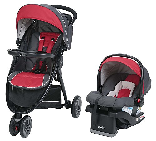 Graco FastAction Sport LX Travel System, Chili Red by Graco