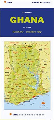 Ghana Reisekarte / Travellers' Map. 1:750000: Die Reisekarte zum Buch. 1:750 000