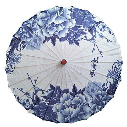 Painted Umbrellas Hand (GUUQA Chinese Silk Cloth Umbrella Classical Style Decorative Umbrella Oil Paper Umbrella (pattern1))