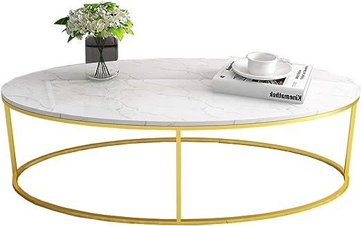 Mesas de Centro Mesa de Comedor Ovalada de mármol para Sala de Estar, Mesa de Centro