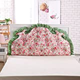 Bed backrest positioning support pillow reading pillow Triangle big cushion [cotton] [printing] Stereo Korean style triangular wedge cushioning-G