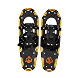 ENKEEO Light Weight Aluminum Alloy Terrain Snowshoes Kit with Carry Bag, Adjustable Ratchet Bindings