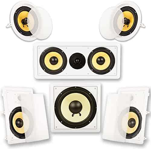 Acoustic Audio HD518 5.1 Home Theater Speaker System (White)