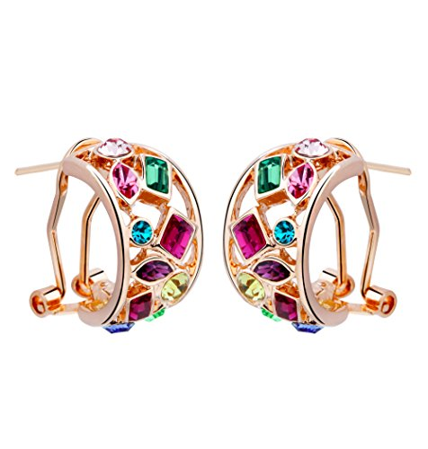 T400 Jewelers Made with Swarovski Elements crystal multicolor stud earring